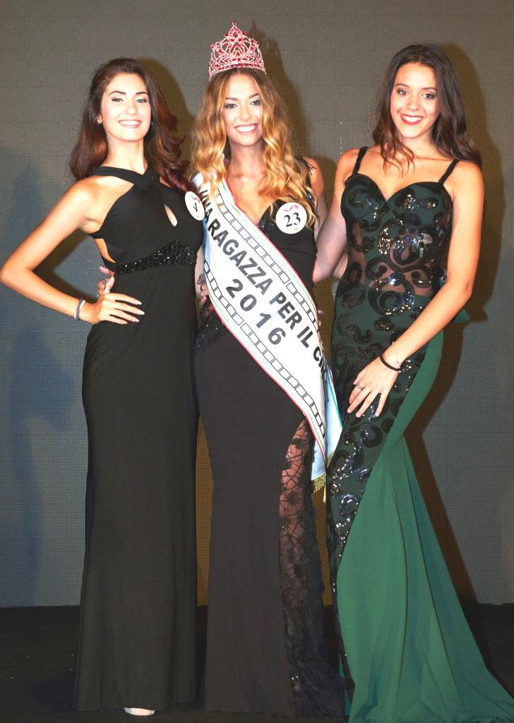 AC Beatrice Accaputo (2a), Alessia Debandi (Ragazza cinema 2016), Nina De Caprio (3a)