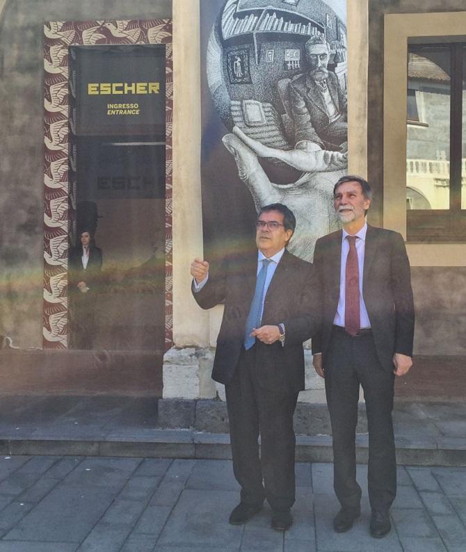 Visita catania ministro delrio al palazzo della cultura for Escher mostra catania
