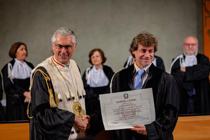 Alberto Angela prof a Palermo: riceve laurea honoris causa