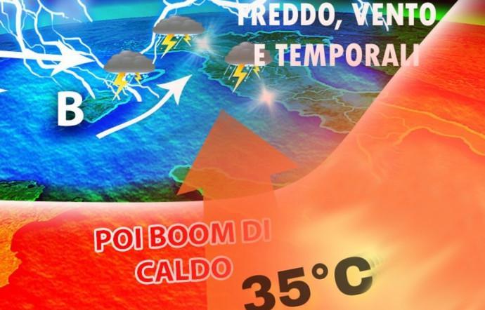 Nuovo allerta meteo che coinvolge la Sicilia, ma a fine maggio previsti 40 gradi