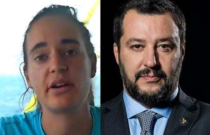 Carola Rackete chiede la chiusura dei profili social di Matteo Salvini