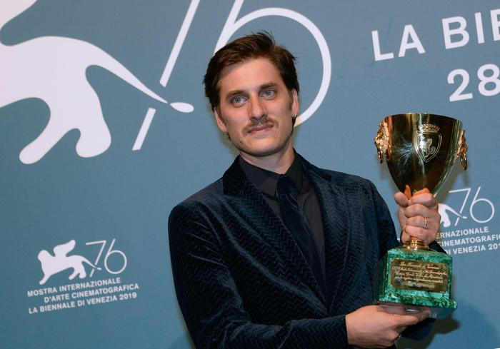 Italian actor Luca Marinelli holds the Volpi Cup (Coppa Volpi) award for Best Actor for his performance in the movie 'Martin Eden' during the awarding ceremony of the 76th annual Venice International Film Festival, in Venice, Italy, 07 September 2019. The festival runs from 28 August to 07 September. ANSA/ANDREA MEROLA