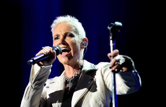 (FILE) - Swedish singer Marie Fredriksson of Swedish pop duo Roxette performs during their Charm School tour in Sydney, Australia, 16 February 2012 (reissued 10 December 2019). Marie Fredriksson died on 09 December 2019 at the age of 61 after a long illness, her family confirmed on 10 December 2019.  ANSA/TRACEY NEARMY AUSTRALIA AND NEW ZEALAND OUT *** Local Caption *** 50219653